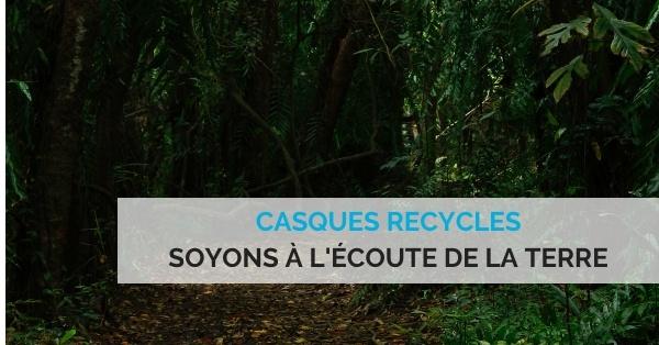casques recyclés